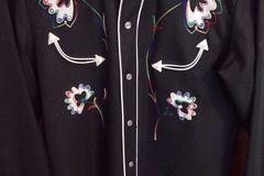 Selling: H BAR C Men Cowboy Western Show Shirt California Ranchwear