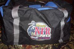 Selling: Wrangler NFR 2013 Las Vegas medium Duffle Bag 24x12x14