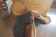 Selling: Allegro Duett Close Contact Saddle 17.5""