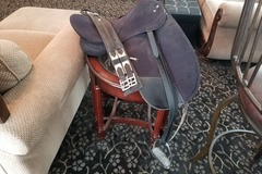 Selling: Wintec Dressage Saddle with Irons, Girth, Saddle Pads 16""