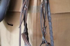 Selling: Fancy Stitched Leather Hunt Bridle with Snaffle Bit