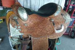"Selling: Showman Western Pleasure Show Saddle FQHB 16"""