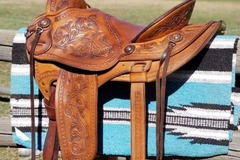 "Selling: Watt Bros Stock Saddle 15"""