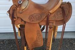 "Selling: Custom Wade Ranch Saddle 16"""
