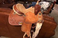 """Selling: Youth Barrel Saddle by Red River Saddlery 12"""""""