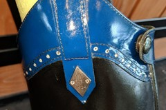 Selling: Custom F.lli Fabbri English Show Boots w/ Swarovski Crystals