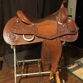 "Selling: Custom Teskey's Reining Saddle 16.5"""