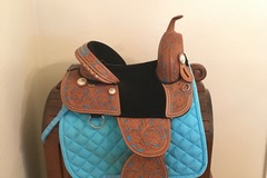 Selling: Hilason Treeless Barrel Saddle 14""