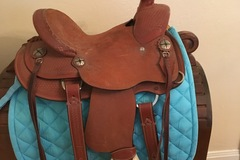 Selling: FQHB Silver Royal Wylie Wade Saddle 12""