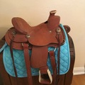 """Selling: FQHB Silver Royal Wylie Wade Saddle 12"""""""