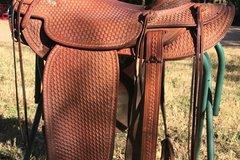 "Selling: Franklin Saddle Shop Bub Warren 3-B Fork Early 1970s 15"""
