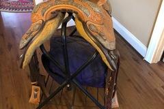 "Selling: Blue Ribbon Show Saddle 16.5"""