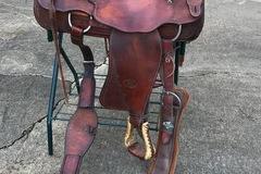 "Selling: Billy Cook Roping Saddle Original Sulphur, OK Made 16"""