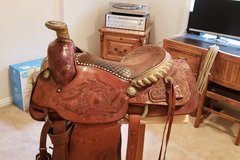 Selling: Cross Brothers Custom Western Saddle 15.5""
