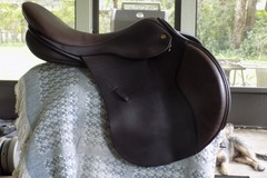 "Selling: Black Country Eventer Model Saddle 17.5"" Excellent Condition"