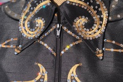 Selling: Beautiful one of a kind black & gold showmanship jacket