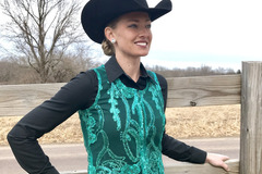 Selling: Women's Teal Sheer Show Vest