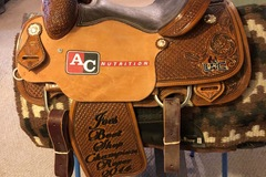 Selling: Brand New Calf Roping Saddle 14.5""