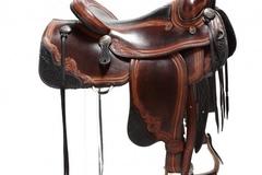 Selling: Lisa & Loren Skyhorse S. Western Artisan Storyteller Saddle