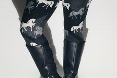 Selling: NEW Women's Horse Printed Leggings Pants (Plus Fit 12-18)
