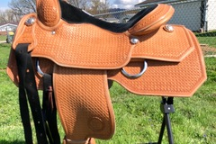 """Selling: Brand New Wenger Ranch Pleasure and Work Saddle 15.5"""""""