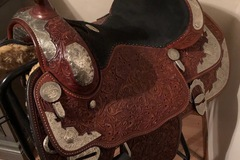 """Selling: Billy Cook (Sulpher, OK) Show Saddle Set 16"""""""