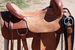 Selling: Cutting Saddle, Vintage Custom Billy Cook, Greenville TX 18""