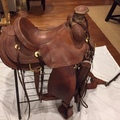 Selling: Burns Saddlery Custom Ranch Trail Saddle 16""