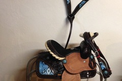 Selling: New Kids Child Youth Western Barrel  Saddle 10""