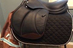 Selling: Custom Voltaire Design Palm Beach Saddle Used 12 Times 17.5""