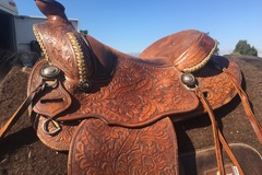 Selling: Custom  McClintock Saddle 15.5""