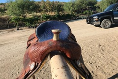 """Selling: Corriente Barrel Saddle 15"""" with Breat Collar and Back Cinch"""