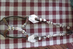 Selling: Broken Horn Silver Show Headstall