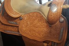 "Selling: Champion 16"" Show Saddle and Matching Headstall 17"""