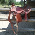 """Selling: Wade Saddle with Pull Collar and Weaver Smart Cinch 17"""""""