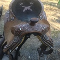 """Selling: Silver royal pistol Annie Saddle 15"""""""