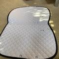 Selling: White and black saddle pad
