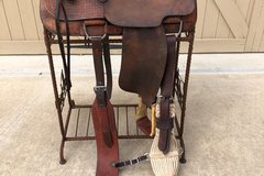 "Selling: Cecil Williams Custom Made Saddle 15"""