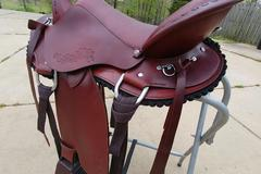 Selling: Extra Wide CTK Gaited Saddle w/matching breast collar 16.5""