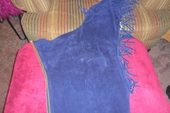 Selling: Navy Blue Western Suede Chaps