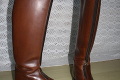 Selling: Polo Brown Leather (tan) Riding Boots Cavallo 9 1/2