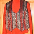 Selling: Hobby Horse Show Rail Trail Vest Black, Cranberry, Gold Meta