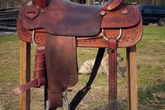 Selling: Teskey's Cowboy Collection Ranch Cutter Saddle 17""